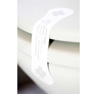 Sigillo di garanzia igiene WC adesivo realizzato in carta resistente Il prodotto viene venduto in confezioni da 100 pezzi.