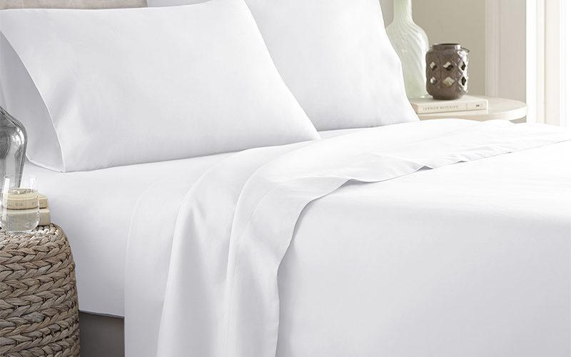 Federa normale e lenzuola di cotone bianco Eurotex prodotto