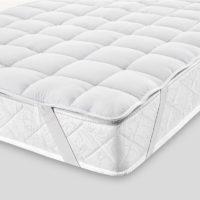 Topper letto trapuntato bianco eurotex prodotto