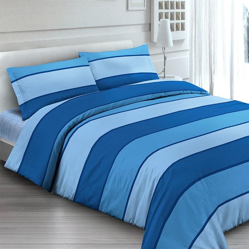 Copripiumino Azzurro.Parure Copripiumino Ischia Azzurro Per Alberghi E B B