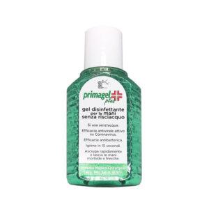 Primagel plus è un gel disinfettante dermatologicamente testato. Protegge da virus e batteri che possono trasmettersi attraverso il contatto.
